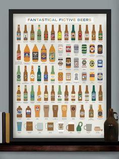 Fantastical Fictive Beers Print