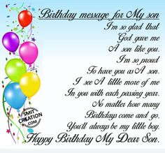 Birthday Wishes For Facebook Son
