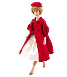 1962  Flare red Barbie, like all the dolls, came with the same complete backstory: Her full name was Barbie Millicent Robert, of Willows, Wisc. She attended Willows High School.