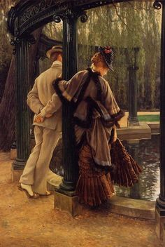 """Quarrelling"" by James Jacques Joseph Tissot."