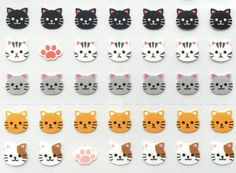 Kawaii Cat Stickers  Japanese Stickers  Japanese by TheCatStore