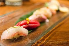 Seven course plus six nigiri sushi as part of the Omakase or 'leave it to the chef' from Sake Japanese Restaurant, The Rocks Nigiri Sushi, Allrecipes, I Foods, Restaurant, Japanese, Ethnic Recipes, Blog, Japanese Language, Diner Restaurant