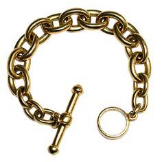 KIESELSTEIN CORD Gold Large Toggle Bracelet