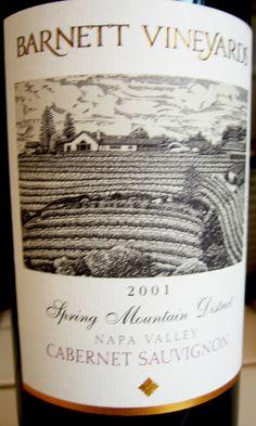 2001 Barnett Vineyards Napa Valley Spring Mountain Cabernet Sauvignon  #wine