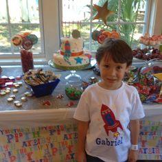 rocket birthday party | Rocket theme birthday party