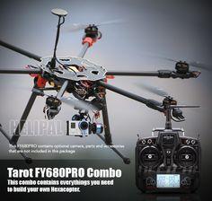 Tarot FY680 Pro Hexacopter Combo http://www.helipal.com/tarot-fy680-pro-hexacopter-combo.html