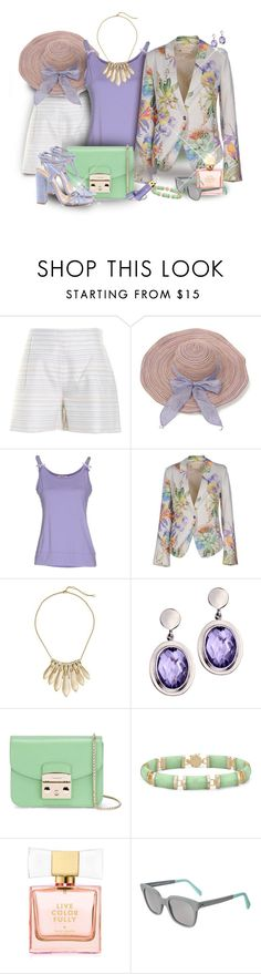 """""""MET & Friends Blazer & Shorts"""" by franceseattle ❤ liked on Polyvore featuring Hutch, Blugirl Folies, MET, Alexis Bittar, Trilogy, Furla, Kate Spade, Sheriff&Cherry and Tatcha"""