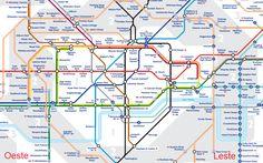 Vale a pena se hospedar longe do centro? - mapa metrô
