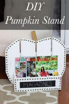 DIY Pumpkin Stand - Erin Spain
