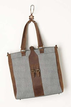 Anthropologie's Foundry Canvas Tote (best bag I ever bought, hallelujah amen)