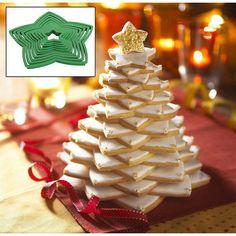 Make a star quality centrepiece for the Christmas table using Wilton star cookie cutters! #zorattoent #wiltonwholesalers  www.zorattoent.com.au