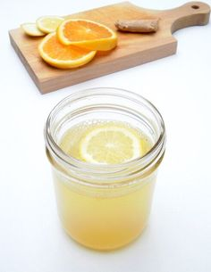 Citrus ginger tea, to help fight the effects of colds and flu