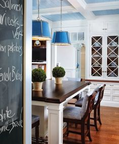 House Tour: Greenwich Home Like the island trim details