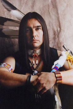 White Wolf: 9 - Edward Two Moons . Chiricahua Apache || Native And Proud: 11 Native American Men Celebrities With Long Hair