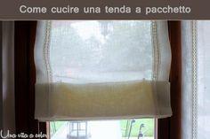 Tutorial come cucire le tende a pacchetto