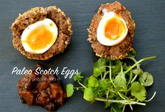 Simple Paleo Scotch Eggs that can be made with sausage mince or regular pork mince. Click for a full recipe and step by  step photos http://eatdrinkpaleo.com.au/paleo-scotch-eggs-recipe/