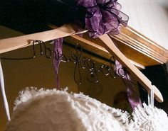 Customized Bride Dress Hanger in Your New Last by HomesAndWeddings, $29.00
