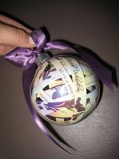 ornament made from wedding invitation - would love to make these for my daughters
