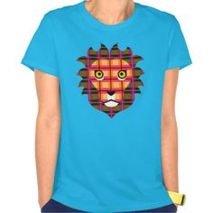 Tartan lion tee shirt $32.45