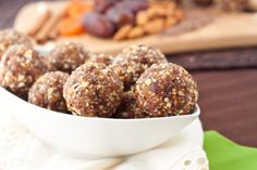 Flax seed snack balls. Protein & Omega-3!