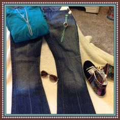7 For All Mankind Ginger Flare Leg Fun and Flirty Seven Flare Jeans. Inseam 31 1/2 7 for all Mankind Jeans Flare & Wide Leg