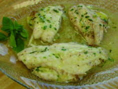 Broiled Lionfish with Garlic-Basil Butter