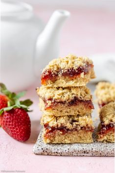 The classic jam crumble bar slice is one of those sweet treats that the entire family love and will devour! Easy No Bake Desserts, Delicious Desserts, Yummy Food, Fun Desserts, Rice Krispie Treats, Rice Krispies, Homemade Strawberry Jam, Trifle Pudding, Homemade Snickers