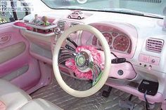 World of Hello-Kitty , the cat without any mouth *MEOW ~~* Hello Kitty Gun, Pink Beetle, Paint Charts, Princess Kitty, Cat Character, Vroom Vroom, Pink Girl, Pretty In Pink