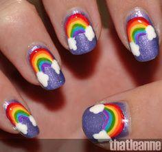 thatleanne: Rainbow Nail Art and Revlon Scented Nail Polish!