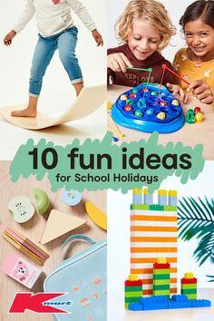 Top 10 Ideas for School Holiday Fun Keep kids entertained with our school holiday program! Toddler Learning Activities, Play Based Learning, Fun Activities For Kids, Family Activities, Crafts For 3 Year Olds, Easy Crafts For Kids, School Holiday Programs, Holiday Fun, Holiday Ideas