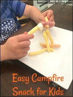 House of Burke: Easy Campfire Snack for Kids Kids Learning Activities, Summer Activities For Kids, Holiday Activities, Summer Kids, Crafts For Kids, Campfire Snacks, Team Snacks, Welcome To The Family, Cub Scouts