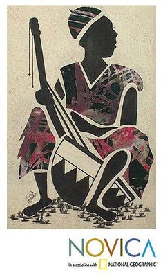 Novica 'Kora Player' Original Art