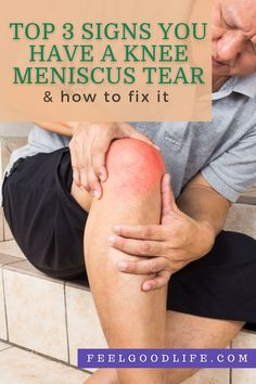Top 3 Signs You Have a Knee Meniscus Tear (and How to Fix it) Knee Arthritis, Quad Muscle Tear, Meniscus Tear Treatment, Anatomy Of The Knee, Meniscus Surgery, Knee Meniscus, Baker's Cyst, Swollen Knee