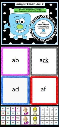 This packet includes 5 anchor charts, 5 assessments, and 80 nonsense words that target short vowels. These nonsense words consist of 2 letters and when blended together there are 2 sounds. There is one anchor chart for each vowel, one assessment for each Kindergarten Reading Activities, Reading Resources, Kindergarten Teachers, Elementary Teacher, Play Based Learning, Student Learning, Nonsense Words, Word Sorts, Emergent Readers