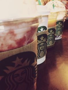 A finally great Starbucks picture!  don't worry I didn't buy all of these!  my lovely friends contributed to my beautiful picture!  xxx