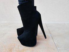.. black #booties #bootie #heels
