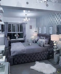 20 tips will help you improve the environment in your bedroom Fancy Bedroom, Grey Bedroom Decor, Room Design Bedroom, Luxury Bedroom Design, Girl Bedroom Designs, Stylish Bedroom, Small Room Bedroom, Ikea Girls Bedroom, Bedroom Bed