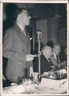 1945 Anti Fascist Refugee Emile Servan Schreiber Jean Jacques Mayoux Press Photo