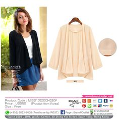 Product Code: MISS102003-020F Item Description: MissCandy Peach Chiffon Coat Price: US$50 Size: Free WhatsApp: (+852) 6823-9608 (Purchase by POST) Tel: (+852) 3188-4878 Address: Suite 1005 , 10/F, Winful Centre, 30 Shing Yip Street, Kwun Tong, Hong Kong Website: www.brandoutlet.com.hk Facebook: Brand Outlet Email: info@brandoutlet.clothing #korea #koreaclothes #koreanfashion #koreanmodel #madeinkorea #onlineshop #onlineshopping #summer #style #dress #top #seoul #onepiece #brandoutlet…
