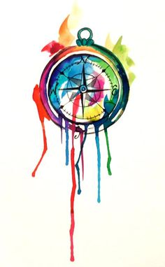 Watercolor Compass Tattoo by Lucky978.deviantart.com on @deviantART