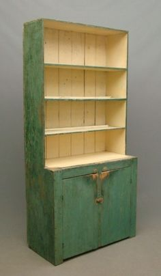 19th c. Stepback Cupboard