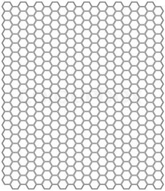 This letter-sized hexagon graph paper is spaced with
