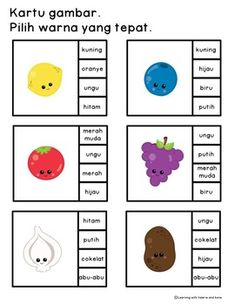 Ayo Belajar Warna - Colour/color in Bahasa Indonesia/Indonesian all in one pack Pre K Activities, Preschool Learning Activities, Home Learning, Learning Tools, Color Worksheets For Preschool, Malay Language, Indonesian Language, Classroom Inspiration, Busy Book