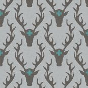 deer_head_marine fabric by holli_zollinger, click to purchase