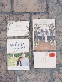 wedding invitation; photo: Greer G Photography