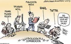 Example of humor cartoon/visualization: The Evolution of Communication Charles Darwin, Evolution Cartoon, Theory Of Evolution, Human Evolution, Social Media Etiquette, Social Media Humor, Satirical Illustrations, Satirical Cartoons, Media Communication