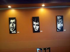 Some art on display at Higher Grounds Coffee Place