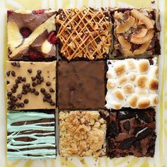 Think outside of the box brownies – these variations make chocolate dreams possible! Try one (or more) of these out-of-this-world flavors.
