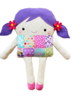 This listing is for a PDF Patchwork Girl Doll sewing pattern. The document you will receive includes a detailed step by step tutorial on how to