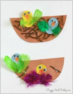 Spring Crafts for Kids: Nest and Birds Paper Craft ~ Buggy and Buddy by deana
